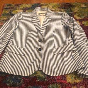 Seersucker two buttoned blazer